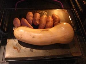 butternut squash sweet potatoes nursing litter